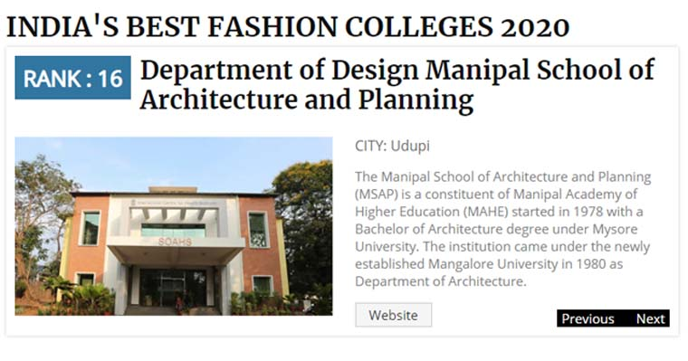 India Today India S Best Fashion Design Colleges 2020
