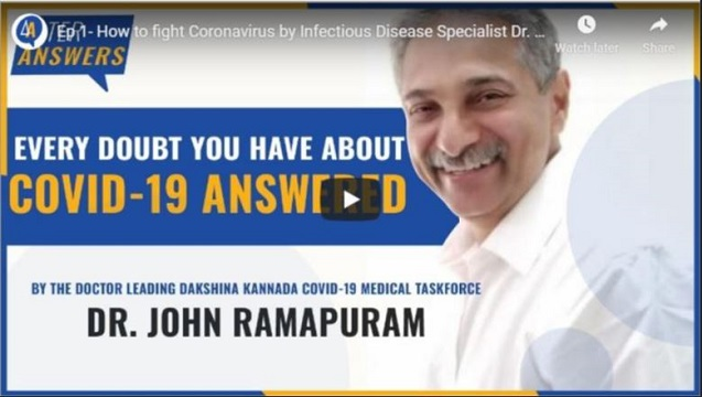 How to fight coronavirus : Interview with Infectious Disease Specialist Dr. John T Ramapuram