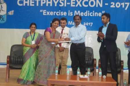 Dr. Rashmi K S has been awarded Second place for the best oral presentation in National Conference