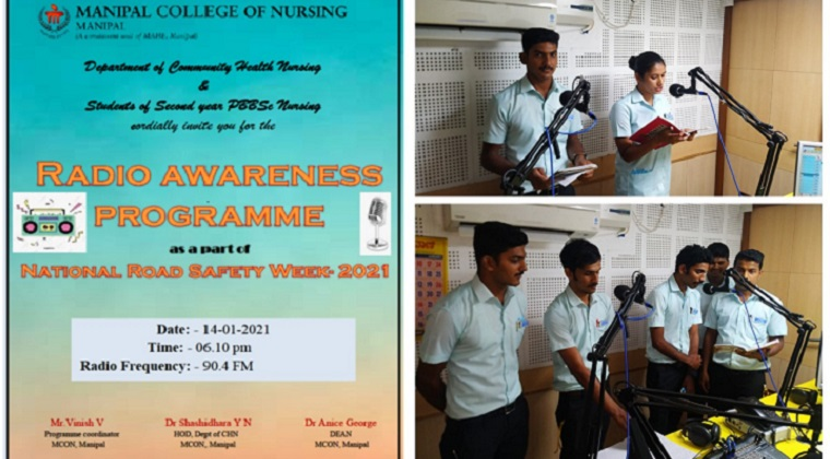 Radio awareness programme about National Road Safety Week - 2021