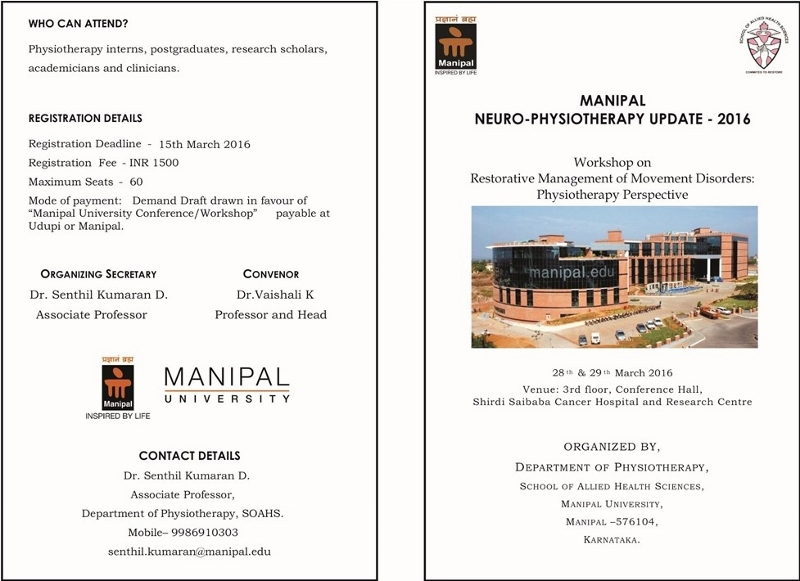Manipal Neurophysiotherapy Update 2016