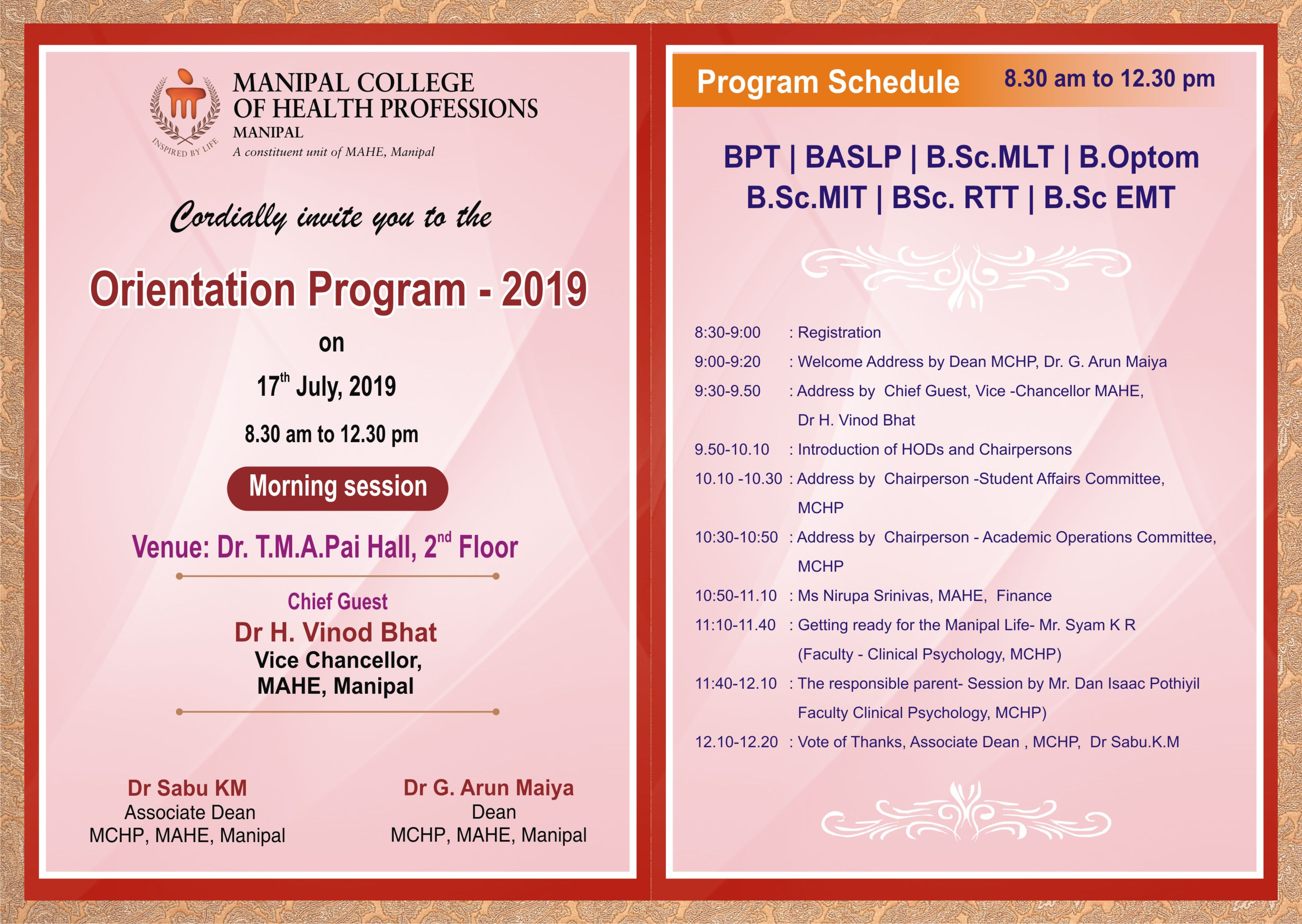 Manipal College of Health Professions | MCHP Manipal