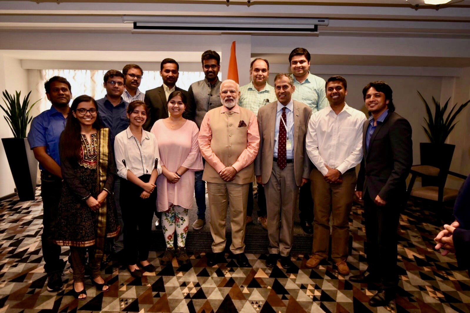 Manipal Alumnus Mr. Vishnu Mohan with Prime Minister of India at Israel